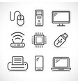 computer science icons set vector image