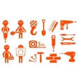 construction industry set vector image vector image