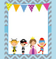 costume party poster vector image vector image