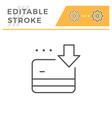 credit card replenishment editable stroke icon vector image vector image