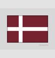 denmark orlogsflaget variant flag national ensign vector image vector image