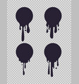 dripping black circles inked round liquid shapes vector image