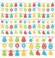 easter bunting vector image vector image