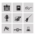 Education icon set Black sign on gray background vector image vector image