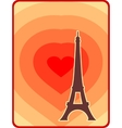 Eiffel tower in Paris Outline silhouette vector image vector image