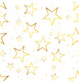 falling star seamless pattern background business vector image