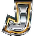 Fancy font Letter J vector image vector image