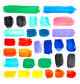 gouache acrylic abstract spot set painted vector image