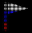 halftone russian triangle flag icon vector image vector image