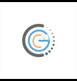 initial letter gc or cg logo design template vector image vector image