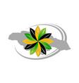 jamaica flower logo design template vector image vector image