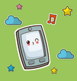 kawaii smartphone winking image vector image vector image
