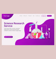 landing page template science and research vector image vector image