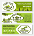landscape and outdoor nature design banners vector image vector image