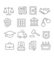 law line icons vector image vector image