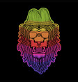lion dreadlocks colorful vector image vector image