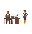 manager woman talking vector image vector image