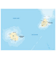 map mascara is la reunion and martinique vector image vector image