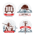 Mining Emblems And Design Elements vector image