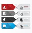Modern Geometric Infographics Design template vector image vector image