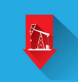 oil price falling down graph vector image