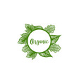 organic badge logo designs inspiration isolated vector image