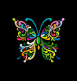 Ornate colorful butterfly for your design