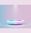 pastel colors stage for product and glossy podium vector image