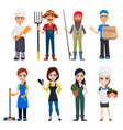 people of different professions vector image vector image
