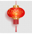 red chinese lantern with gold sakura patterns vector image