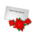 Red Poinsettia Flowers with Black Friday Letter vector image vector image