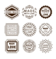 Retro Design Insignias Logotypes Hand Made vector image vector image