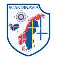 scandinavian design heraldic shield a background vector image