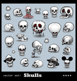 scull collection vector image vector image