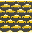 Seamless pattern of yellow taxi car Flat design vector image