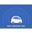 Self-driving car black icon vector image vector image