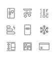 set line icons fridge vector image vector image