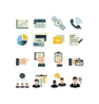 set of businnes icons vector image