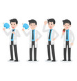 set of doctor character medical health care vector image
