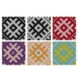Set of North knitting seamless patterns vector image vector image