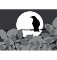 silhouette crow vector image vector image