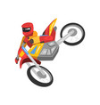 sportsman riding motorbike motorcyclist male vector image vector image