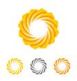 sun flower logo template desig vector image vector image