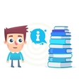 The books have answers to all questions vector image