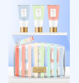 transparent pvc cosmetics beauty or wash vector image vector image