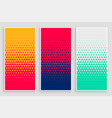 triangle halftone pattern in different colors vector image vector image