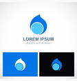 water drop abstract bio logo vector image vector image