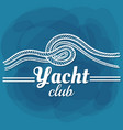 white lettering yacht club vector image