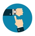 Wristwatch on the hand vector image vector image