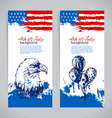 Banners of 4th July backgrounds vector image